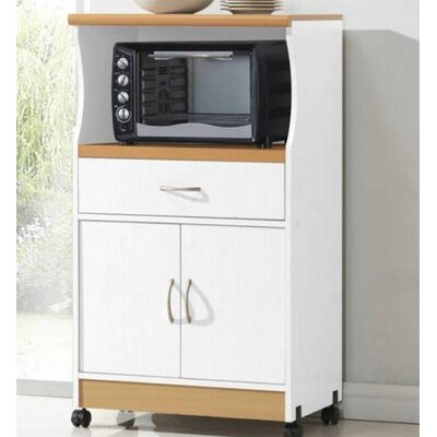Mae Microwave Cart Base Finish: White