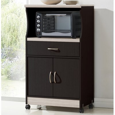 Mae Microwave Cart Base Finish: Chocolate-Grey