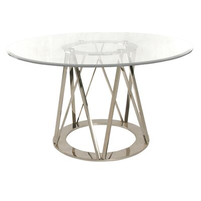 Mayall Round Metal Dining Table Finish: Silver