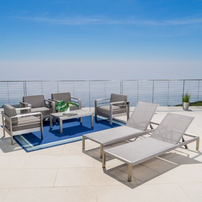 Kit Outdoor 4 Piece Deep Seating Group with Cushion