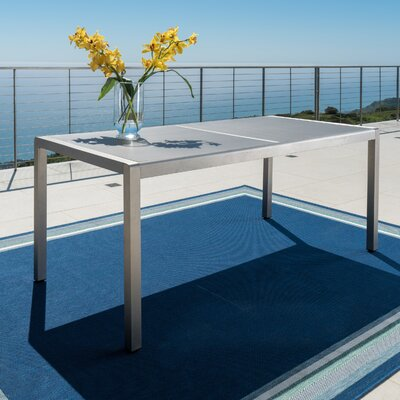 Kit Aluminum Gray Patio Dining Table