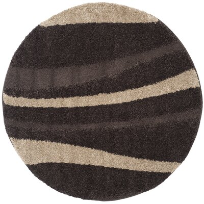 Mika Brown Area Rug Rug Size: Round 4