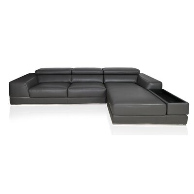 Right Hand Facing Reclining Sectional Upholstery: Elephant Grey
