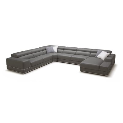 Reclining Sectional Upholstery: Elephant Grey, Orientation: Left-Hand Facing