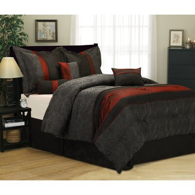 Taifa 7 Piece Comforter Set Size: Queen