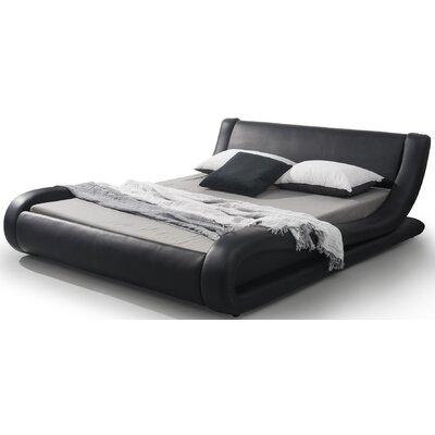 Melrose Upholstered Platform Bed Size: Queen, Finish: Black