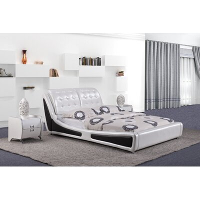 Bosworth Upholstered Platform Bed Size: King, Finish: White
