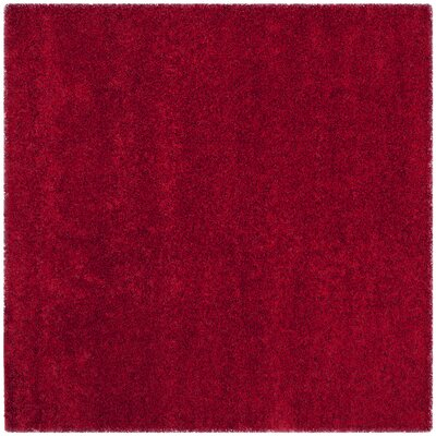 Rowen Handmade Red Area Rug Rug Size: Square 67