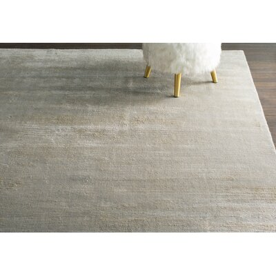 Claverham Hand Woven Wool Gray/Beige Area Rug Rug Size: Rectangle 9' x 12'