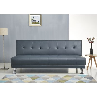 Ecklund Steel Sleeper Sofa Upholstery: Blue