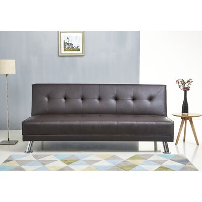 Bugatti Steel Sleeper Sofa Upholstery: Brown
