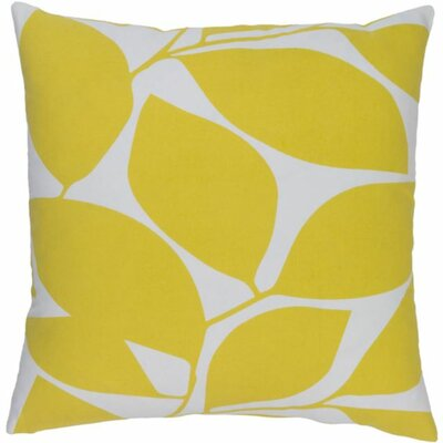 Cluff Square Cotton Throw Pillow Size: 18 H x 18 W x 4 D, Color: Bright Yellow