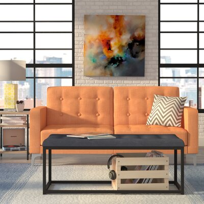 Jayde Foldable Sleeper Sofa Upholstery: Orange