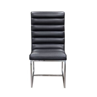 Olney Side Chair (Set of 2) Upholstery: Black
