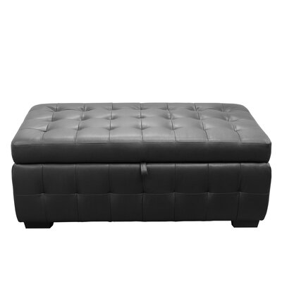 Aidan Storage Ottoman Color: Black
