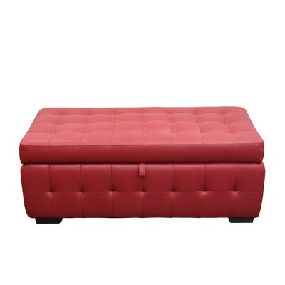 Aidan Storage Ottoman Color: Red