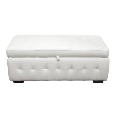 Aidan Storage Ottoman Color: White