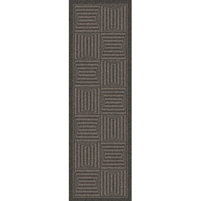 Brylee Hand-Woven Charcoal Area Rug Rug Size: Runner 26 x 8