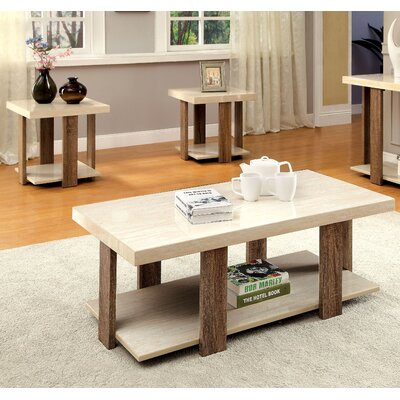 Dunlevy 3 Piece Coffee Table Set Finish: Light Oak