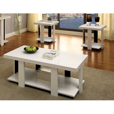 Dunlevy 3 Piece Coffee Table Set Finish: White