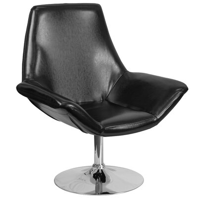 Hypnos Reception Lounge Chair Seat Color: Black