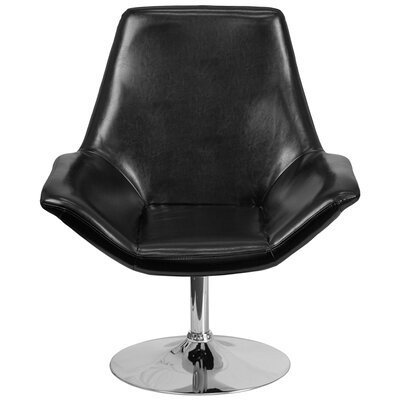 Bouffard Reception Lounge Chair Seat Color: Black