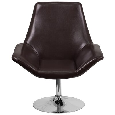 Bouffard Reception Lounge Chair Seat Color: Brown