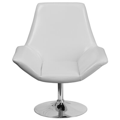 Bouffard Reception Lounge Chair Seat Color: White