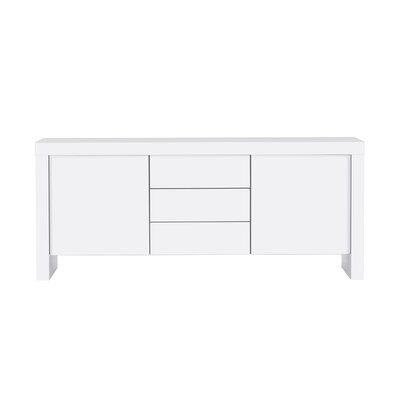 Cosette 2 Door Sideboard Finish: Pure White