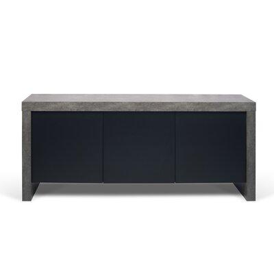 Juniper 3 Door Sideboard Color: Concrete / Pure Black