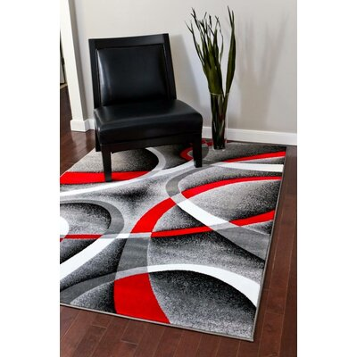 Cherine Modern Gray Area Rug Rug Size: Rectangle 65 x 92