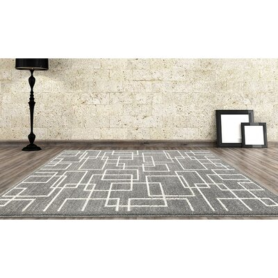 Maddox Gray Indoor/Outdoor Area Rug Rug Size: 52 x 72