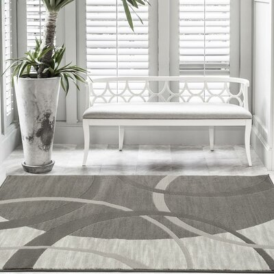Castillo Gray Abstract Indoor/Outdoor Area Rug Rug Size: 5 x 7