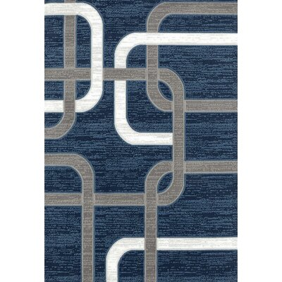 Maddox Blue/Gray Indoor/Outdoor Area Rug Rug Size: 5 x 7