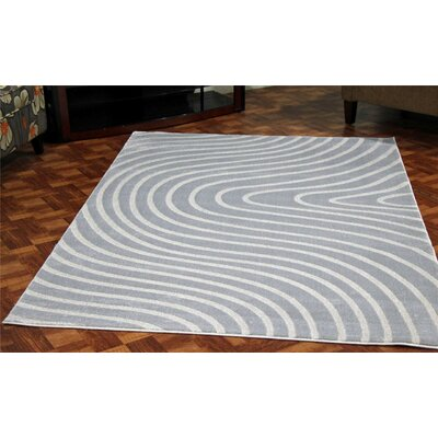 Castillo Light Blue Stain Resistant Indoor/Outdoor Area Rug Rug Size: 4 x 5