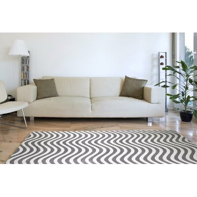 Maddox Light Gray Indoor/Outdoor Area Rug Rug Size: 4 x 5