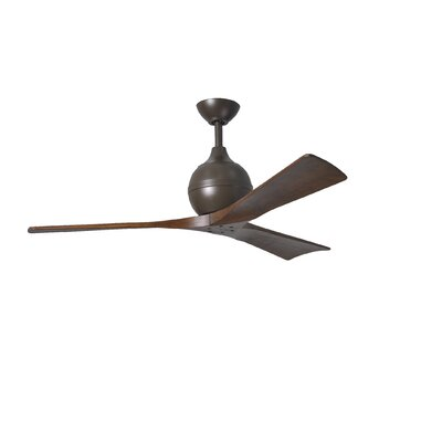 52 Rosalind 3 Blade Ceiling Fan with Wall Remote Finish: Textured Bronze