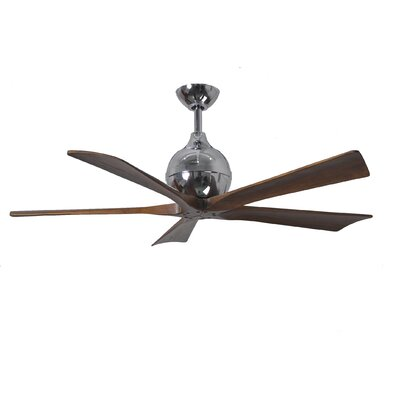 42 Rosalind 5 Blade Ceiling Fan Finish: Polished Chrome