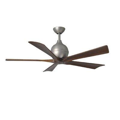 42 Rosalind 5 Blade Ceiling Fan Finish: Brushed Nickel Finish with Barn Wood Tone Blades