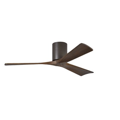 52 Rosalind 3 Blade Hugger Ceiling Fan with Remote Finish: Textured Bronze