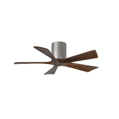 42 Rosalind 5 Blade Hugger Ceiling Fan with Hand Held and Wall Remote Finish: Brushed Nickel