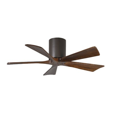 42 Rosalind 5 Blade Hugger Ceiling Fan with Hand Held and Wall Remote Finish: Textured Bronze