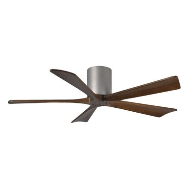 52 Rosalind 5 Blade Hugger Ceiling Fan with Hand Held and Wall Remote Finish: Brushed Nickel