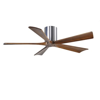 52 Rosalind 5 Blade Hugger Ceiling Fan with Hand Held and Wall Remote Finish: Polished Chrome