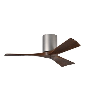 42 Rosalind 3 Blade Hugger Ceiling Fan with Remote Base Finish: Brushed Nickel