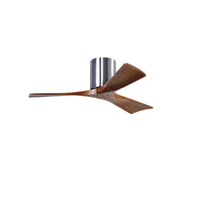 42 Rosalind 3 Blade Hugger Ceiling Fan with Remote Base Finish: Polished Chrome