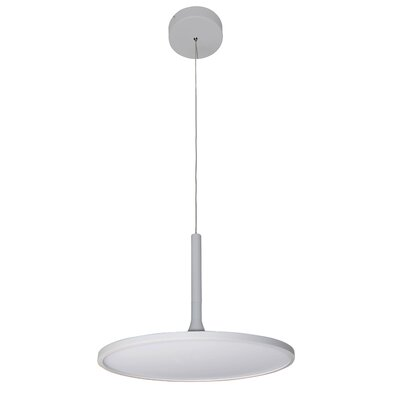 Resa Disc LED Geometric Pendant Finish: White