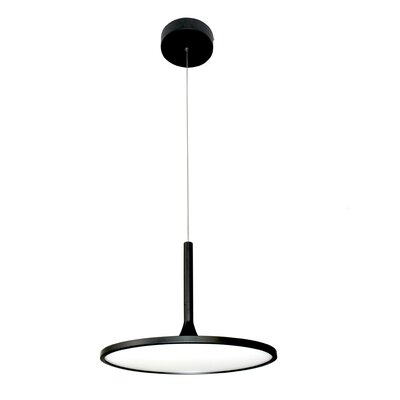 Resa Disc LED Geometric Pendant Finish: Black