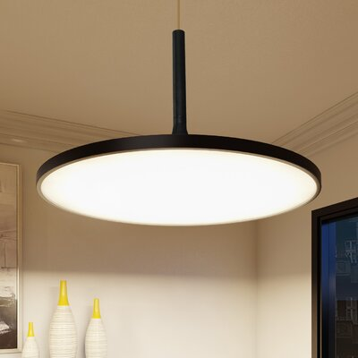 Resa LED Inverted Pendant Finish: Black