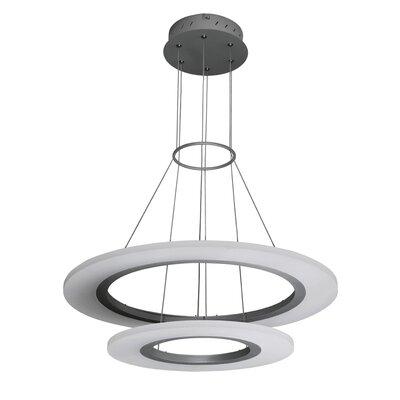 Marcelo Duo 3-Light LED Geometric Pendant Finish: Satin Nickel